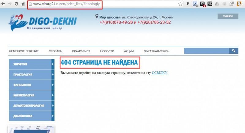 аудит сайта клиники москва